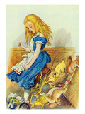Alice Upsets the Jury-Box  Illustration from Alice in Wonderland by Lewis Carroll