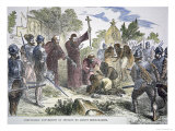 Compulsory Conversion of Native Americans to Christianity by Spanish Jesuit Missionaries  c1500