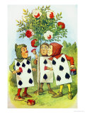 The Playing Cards Painting the Rose Bush  Illustration from Alice in Wonderland by Lewis Carroll