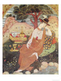 Princess Sitting in a Garden  Safavid Dynasty