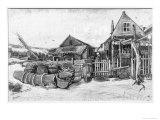 The Fish Drying Barn at Scheveningen  c1882