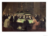The Gaming Room at the Casino  1889