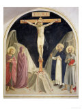 The Crucifixion  with SS Dominic and Jerome  1442