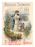 Poster Advertising Moscato Spumante  Printed by Doyen  Turin  1896