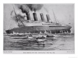 The Sinking of the Lusitania  May 7th 1915  Hutchinson's Story of the British Nation  c1920