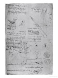 Astronomical Diagrams  from the Codex Leicester  1508-1512