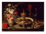 Still Life of Flowers and Dried Fruit  1611