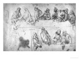 Preparatory Drawing For the Last Supper