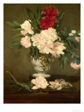 Vase of Peonies on a Small Pedestal  1864