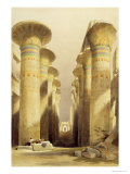 Central Avenue of the Great Hall of Columns  Karnak  from Egypt and Nubia  Vol1