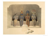 Sanctuary of the Temple of Abu Simbel  from Egypt and Nubia  Vol1