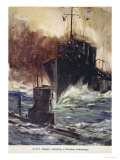 HMS Badger Ramming a German Submarine  Told in the Huts: The YMCA Gift Book  Published 1916
