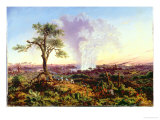 Victoria Falls at Sunrise  with The Smoke  c1863