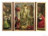 Triptych: Transfiguration  Jesus Appearing to His Disciples with Ss Jerome and Augustine