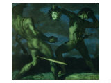 Perseus Turns Phineus to Stone by Brandishing the Head of Medusa  1908