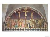 The Crucifixion  with SS Cosmas  Damian  Francis and Bernard  1442