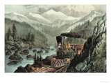 The Route to California Truckee River  Sierra Nevada Central Pacific Railway  1871