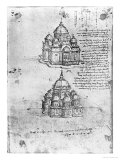 Studies of Central Plan Buildings  Paris Manuscript  c1488-90