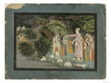 Nanda Asking Radha to Escort Krishna Home  from the Gita Govinda  Garhwal  c1790
