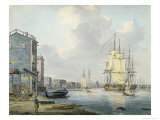 The Thames at Rotherhithe  c1790