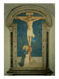 Christ on the Cross Adored by St Dominic