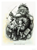 Merry Old Santa Claus  Engraved by the Artist  1889