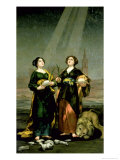 St Justina and St Rufina  1817