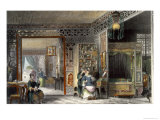 Boudoir and Bed-Chamber of a Lady of Rank  China in a Series of Views by George Newenham Wright