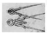 Two Types of Adjustable-Opening Compass  Paris Manuscript H  1493-4