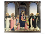 Virgin and Child Enthroned  Angels and St Aquinas  St Barnabas  St Dominic and St Peter  c1422