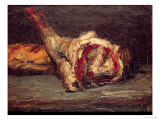 Still Life of a Leg of Mutton and Bread  1865