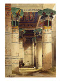 View under the Grand Portico  Philae  from Egypt and Nubia  Vol1
