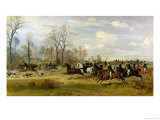 Emperor Franz Joseph I of Austria Hunting to Hounds with the Countess Larisch in Silesia  1882