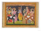 Krishna Lifting Mount Govardhana  from the Bhagavata Purana  Kulu  Himachal Pradesh  1749