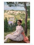 View of the Village  Castelnau  1868
