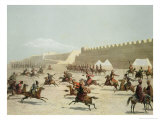 Kurdish and Tatar Warriors  Sadar Abbat  Armenia  Plate 15  Book on Caucasuss  c1847