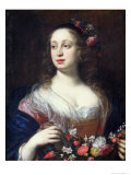 Portrait of Vittoria Della Rovere Dressed as Flora  c1639