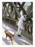 Le Pont de L&#39;Europe: Detail of a Resting Man and a Dog  1876