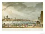 Lord Nelson's Funeral Procession  Greenwich to Whitehall  Engraved Clark and Marke  PubOrme 1806