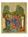 Raising of Lazarus  Russian Icon  Cathedral of St Sophia  Novgorod School  14th Century