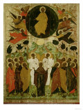 The Ascension of Our Lord  Russian Icon from the Malo-Kirillov Monastery  Novgorod School  1543