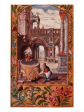 Allegorical Illustration of an Alchemist at Work  from Splendor Solis Trismosin  1582