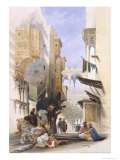 Street Leading to El Azhar  Grand Cairo  Pub 1846