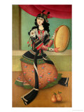 Dancing Girl with a Tambourine  Qajar School