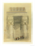 View from under the Portico of the Temple at Dendarah  from Egypt and Nubia  Vol1