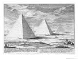 Pyramids of Egypt  Plate 4  Entwurf Einer Historischen Architektur  Engraved by JA Delsenbach
