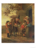Pedlar Selling Spectacles Outside a Cottage  c1650-53