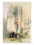 Temple Called El Khasne  Petra  1839  Plate 94 VolIII of The Holy Land