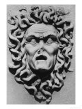Stone Carving of a Medusa's Head  Belvoir Castle  Leicestershire