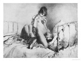 Couple Engaged in Foreplay  Plate 6 from Liebe